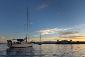 Anchored out in Port Townsend